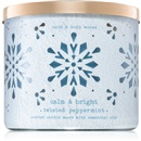 Bath & Body Works Twisted Peppermint 411 g Vonné svíčky