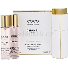 Chanel Coco Mademoiselle Coco Mademoiselle 3x20 ml (1x plnitelná + 2x náplň) parfémovaná voda