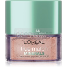 L'Oréal Paris True Match Minerals pudrový make-up odstín 3.N Creme Beige 10 g