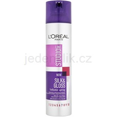L'Oréal Paris Studio Line Silk&Gloss Volume sprej pro objem a lesk 250 ml