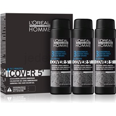 L'Oréal Professionnel Homme Cover 5' tónovací barva na vlasy 3 ks odstín 3 Dark Brown  3x50 ml