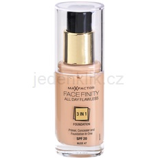 Max Factor Facefinity make-up 3 v 1 odstín 47 Nude (All Day Flawless) 30 ml