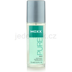Mexx Pure for Man 75 ml deodorant s rozprašovačem