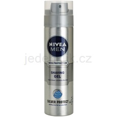 Nivea Men Silver Protect gel na holení 200 ml