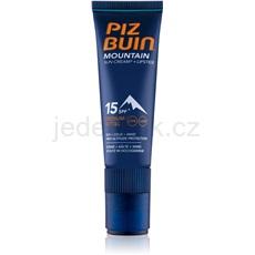 Piz Buin Mountain ochranný krém na obličej a balzám na rty 2 v 1 SPF15 20 ml