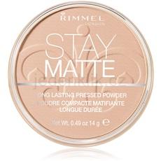Rimmel Stay Matte Stay Matte pudr odstín 003 Peach Glow  14 g